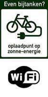 oplaadpunt fiets en wifi